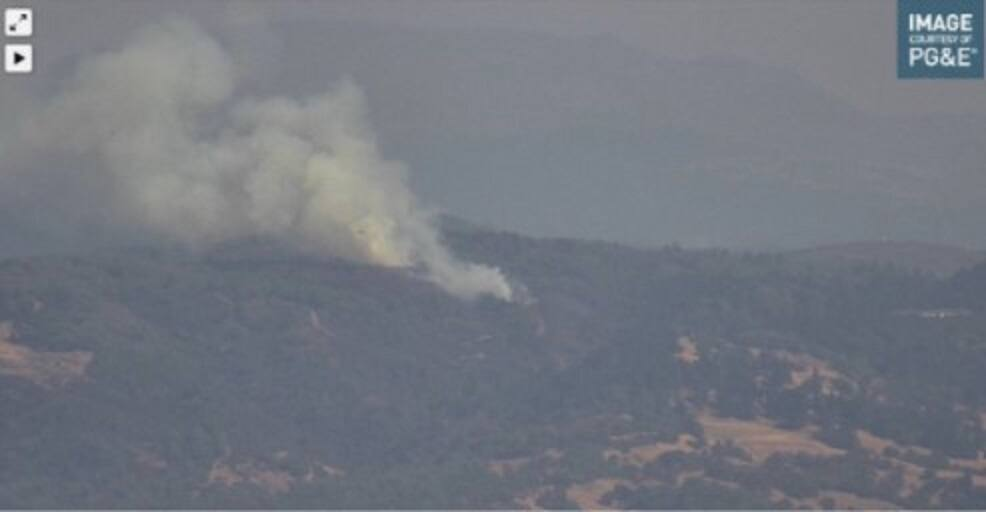The McCutchan fire, which broke out in the Pine Mountain area of Geyers Road, Hopland, in Mendocino County was fully contained shortly before 7:45 p.m. Monday, according to Cal Fire. (alertwildfire.org)