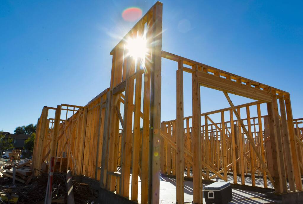 Petaluma, CA. Monday, October 23, 2017._Construction continues at the Altura Apartments where they plan to include more affordable housing in Petaluma. (CRISSY PASCUAL/ARGUS-COURIER STAFF)
