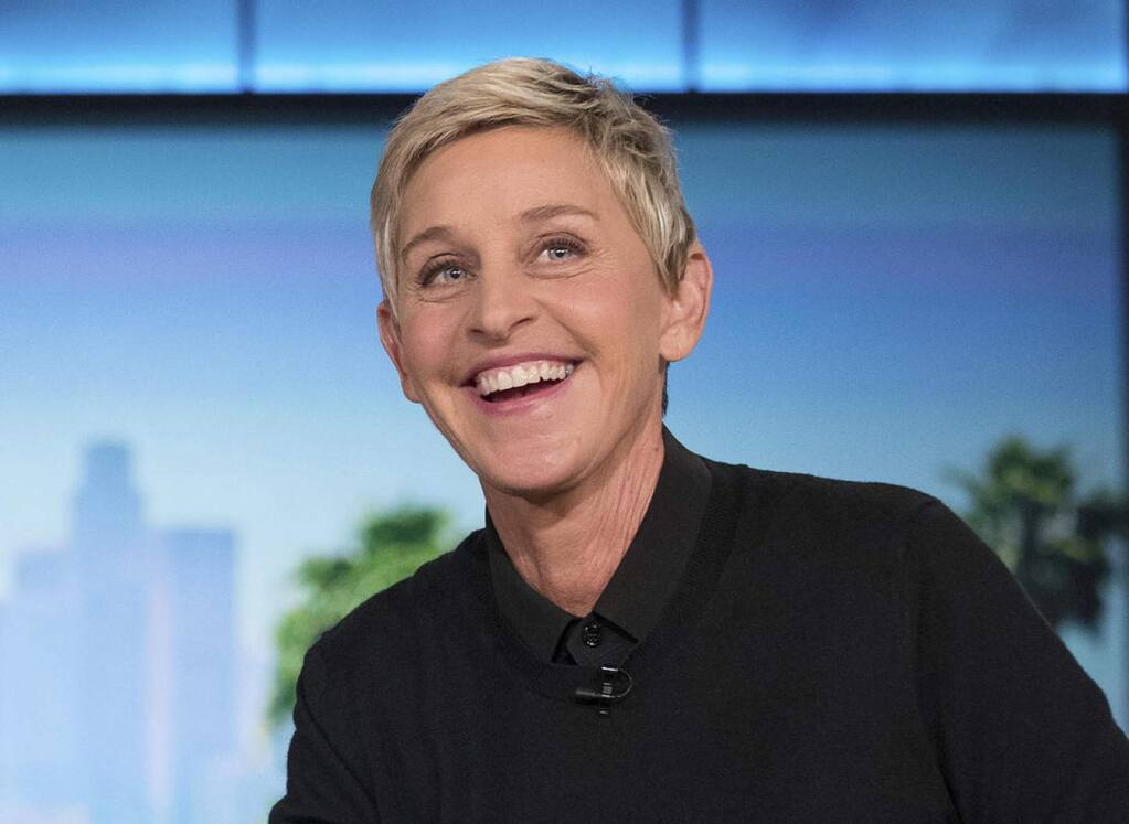FILE - In this Oct. 13, 2016, file photo, Ellen Degeneres appears during a commercial break at a taping of 'The Ellen Show' in Burbank. DeGeneres is known for keeping her comedy on the nice side. But she lets her inner meanie out for 'Ellen's Game of Games.' That's NBC's new prime-time game show, which begins its regular run Tuesday, Jan. 2, 2018, after a December sneak peek. The hour-long show subjects its contestants to minor-league torments that, it turns out, delight host DeGeneres. (AP Photo/Andrew Harnik, File)