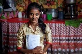 Meera, 20, and her new husband have just one income between them and struggle to save, but Meera is thinking about starting a family. Taking part in the Women of Tea financial training program she now has more money to spend. (Republic of Tea Photo)