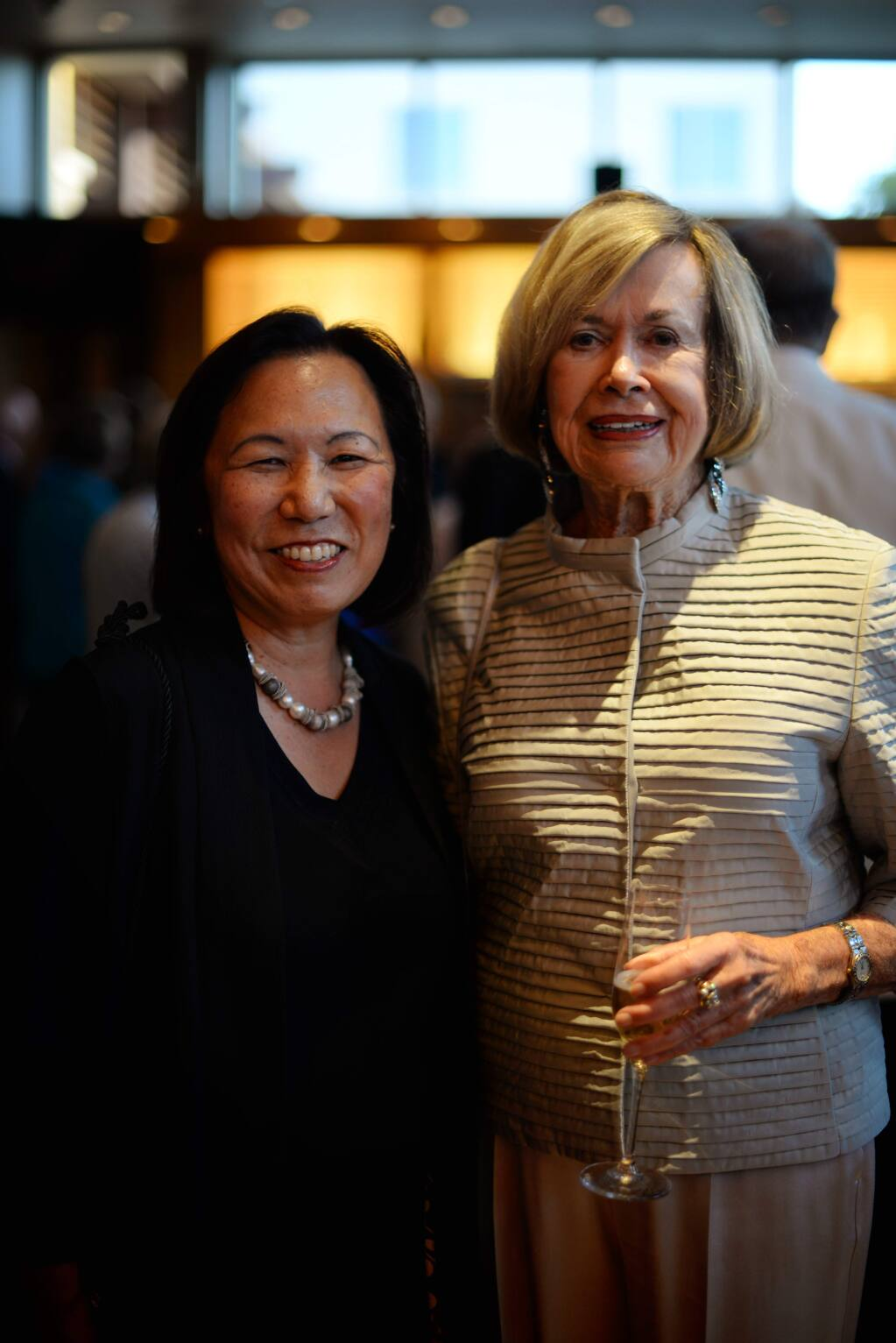 Dr. Judy K. Sakaki, left, and Connie Codding during a celebration for the Santa Rosa Symphony held at the Green Music Center in Rohnert Park, California. October 5, 2018.(Photo: Erik Castro/for The Press Democrat)