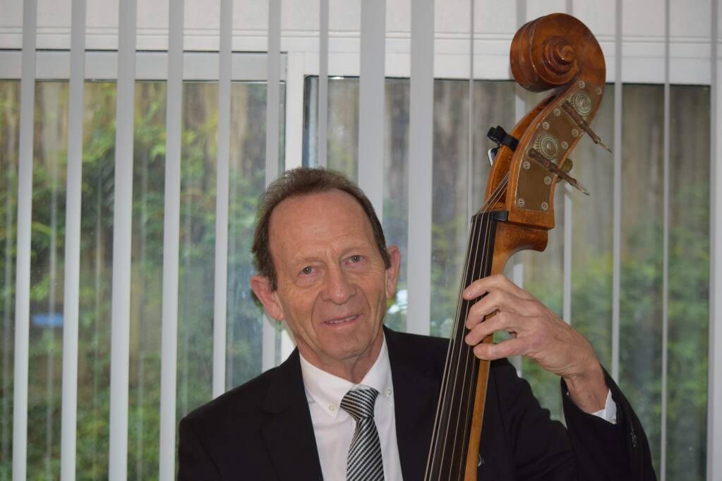 Petaluma jazz bass player Chris Amberger invested $20,000 in two viatical instruments and received no return or his principal. (James Dunn / North Bay Business Journal, April 2017)