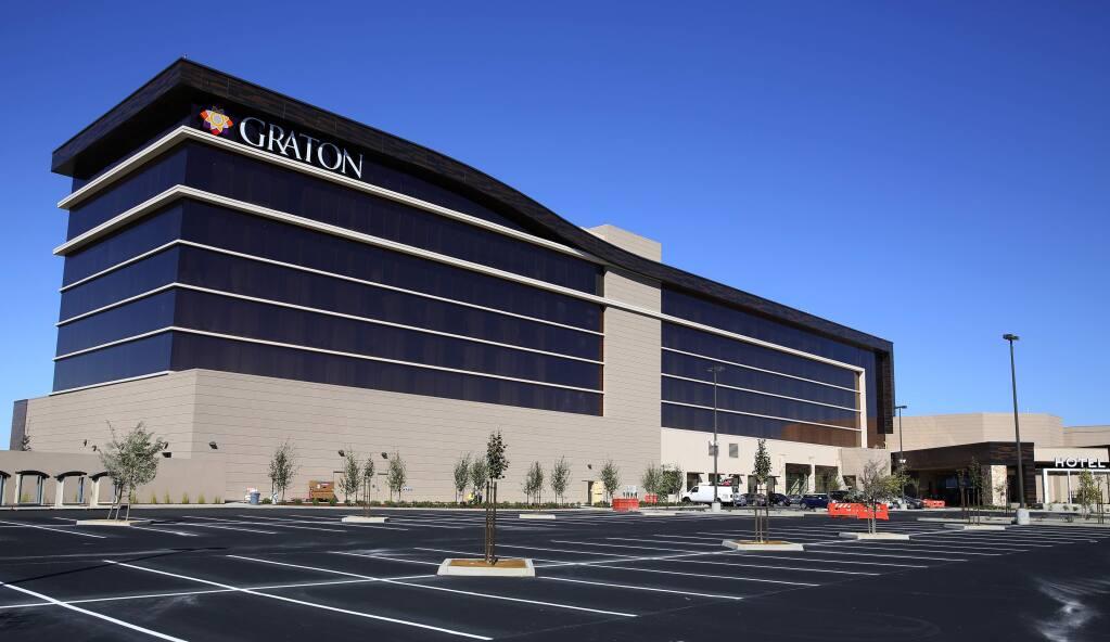 The Graton Resort & Casino's six-story luxury hotel in Rohnert Park on Wednesday, Sept. 28, 2016. (Christopher Chung / The Press Democrat)