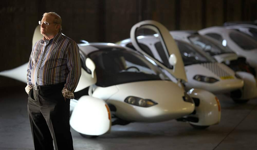 Richard Deringer, a facilitator with Aptera, is helping with plans to assemble a futuristic electric vehicle in Santa Rosa in conjunction with a Chinese auto manufacturer, Friday May 11, 2012. (Kent Porter / Press Democrat) 2012