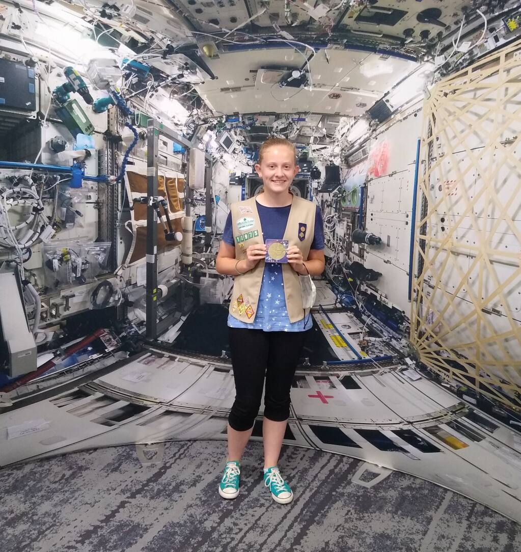 Petaluma resident Emily Bendzick was among 21 winners of a Girl Scout competition that sent her science experiment into space (COURTESY KIRSTEN BENDZICK)