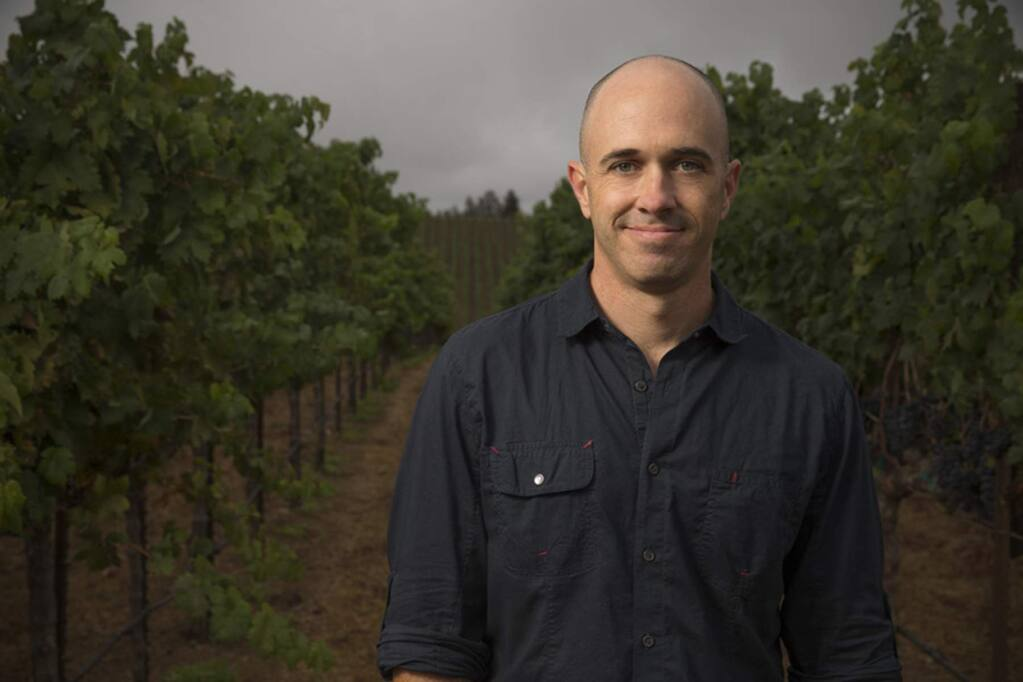 Winemaker Michael Eddy at Frei Brothers Winery in Healdsburg. (COURTESY OF FREI BROTHERS WINERY)