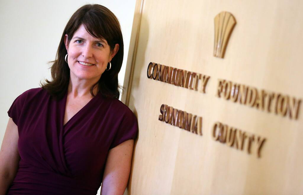 Elizabeth Brown is president and CEO of Community Foundation Sonoma County, which is offering a grant program to benefit underserved populations.