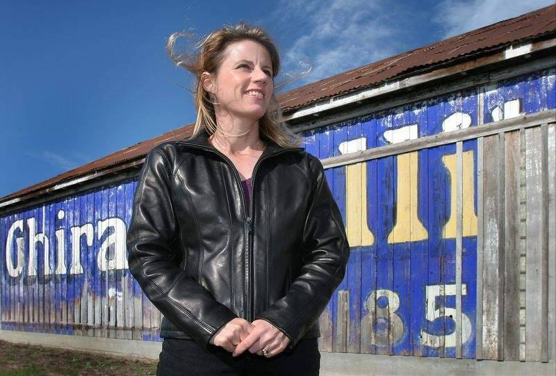 LEDE / 1 of 1--Historian Katherine Rinehart (CQ) is Petaluma's Good Egg this year for her works to preserve local history. She is att the site of the century-old livery stable, moved when the Theater District garage was built. March 20, 2007. Press Democrat / Jeff Kan Lee