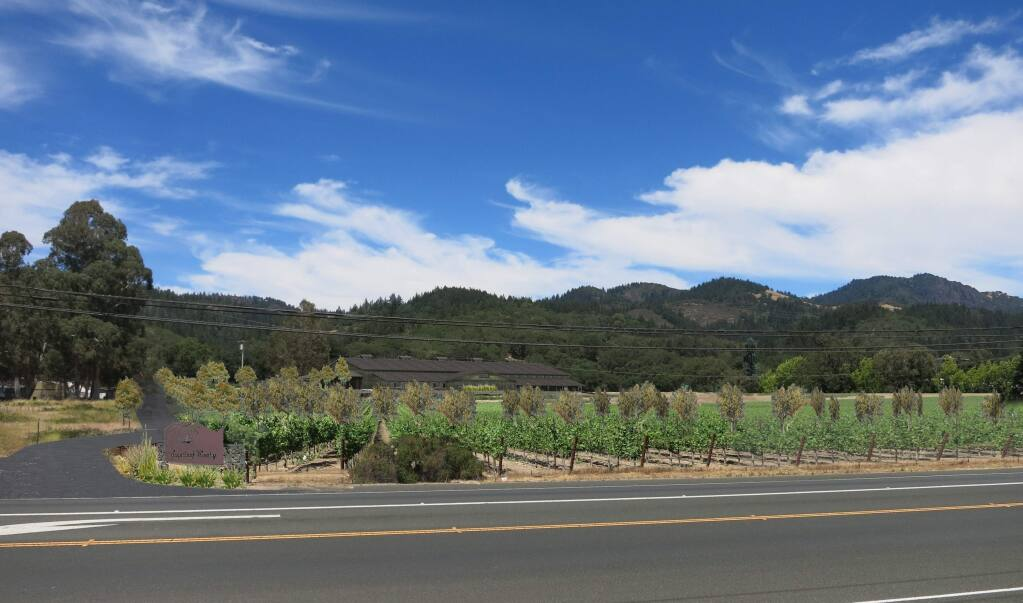 Artist's rendering of future Sugarloaf Winery in Sonoma Valley off Highway 12. (Steve Martin Associates)