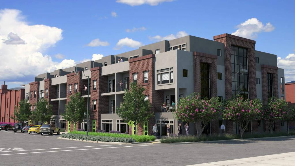 The proposed DeTurk Winery Village apartments (Daniel A. Westphal)