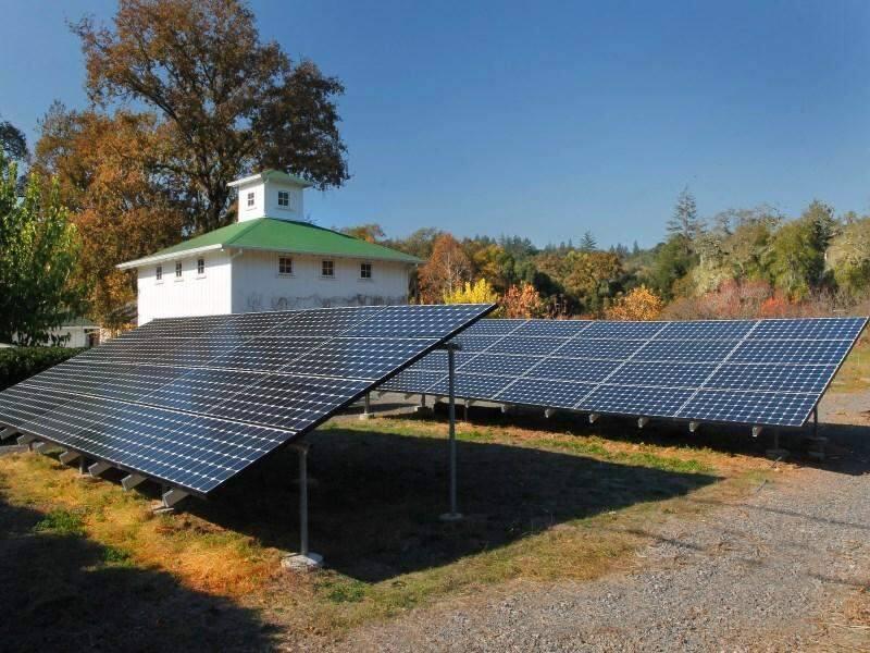 Solar-electric panels at 1325 Warm Springs Road, Glen Ellen (Courtesy of Trulia.com) 2016