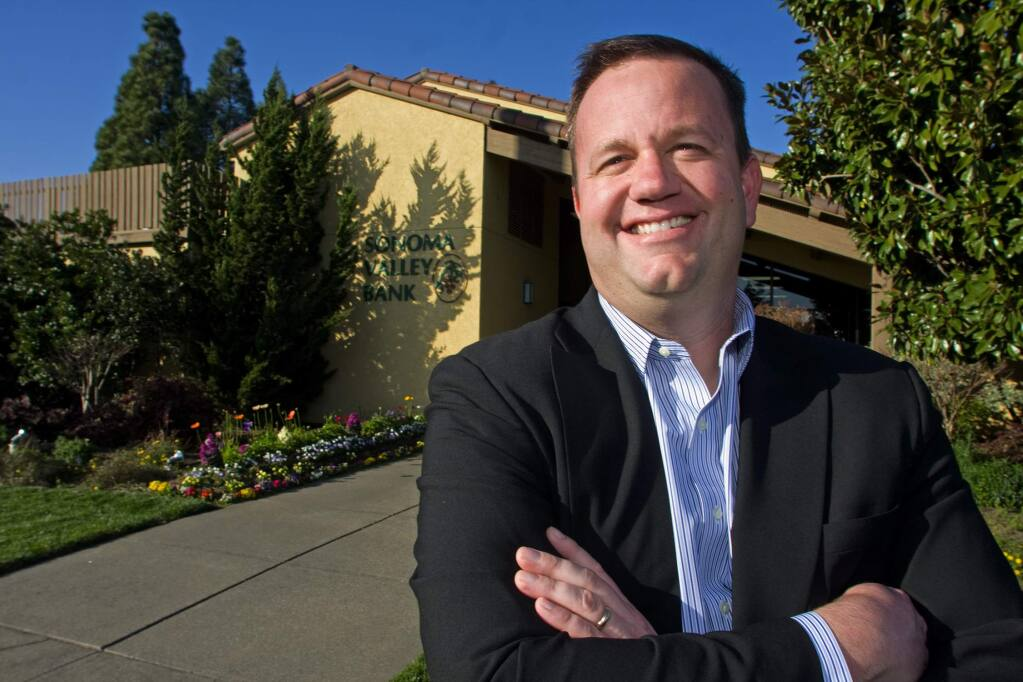 Sean Cutting, now 48, was president of Sonoma Valley Bank until 2010, when federal agents seized its assets.