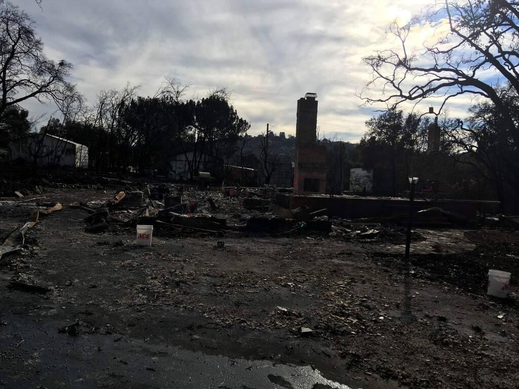 The remains of Susan and Ed Bernard's home in Santa Rosa.