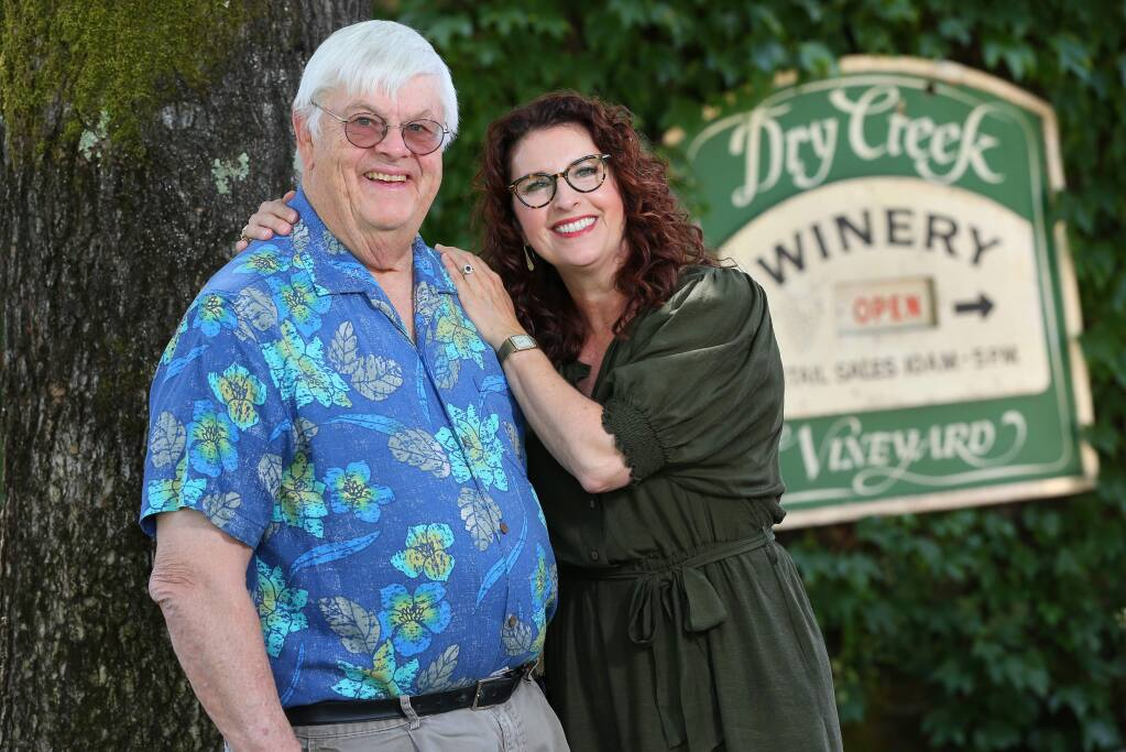 Kim Stare Wallace is the president of Dry Creek Vineyard, which was founded by her father Dave Stare in 1972.(Christopher Chung/ The Press Democrat)