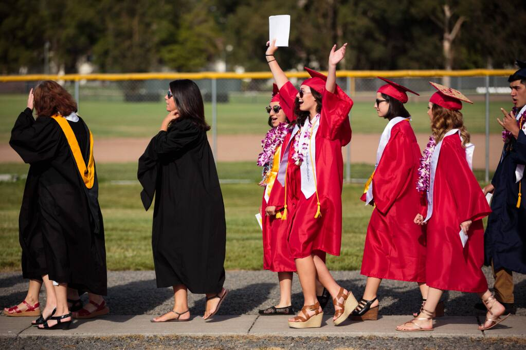 Graduation at Rancho Cotate High School in 2016. (PD FILE)