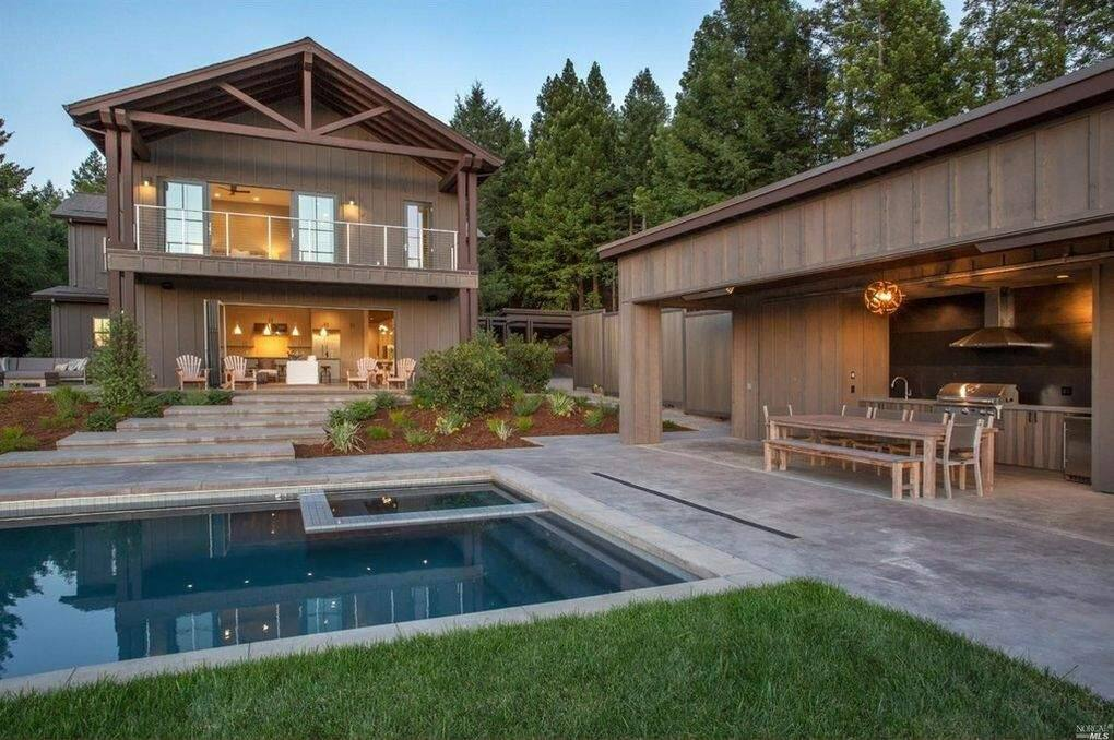 905 Valley View Drive, Healdsburg - $3,895,0004 beds, 5 baths, 4,162 square feet. Lot size; 1.66 acres.Built with for indoor and outdoor living, this contemporary farmhouse features spaces for cooking, dining and relaxing inside and out. Relax by the outdoor fireplace or have a snack poolside at the backyard bar and grill. (Photo courtesy of BAREIS MLS)