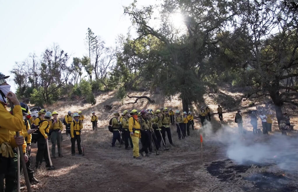 Audubon Canyon Ranch volunteers learn the basics of wildland firefighting and prescribed fire lighting over the course of eight weekends. Safety is No. 1.
