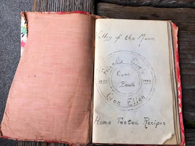 The 'Glen Ellen Friendly Circle Cook Book.'