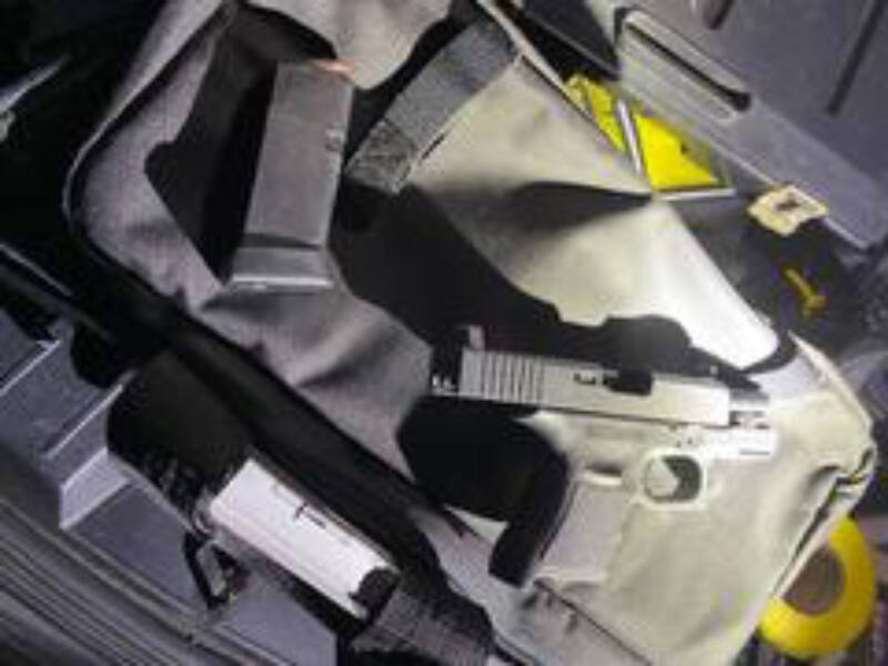 Santa Rosa police responding to a report of a possible gang fight early Monday morning detained a 16-year-old carrying this semiautomatic handgun in his waistband. (Santa Rosa Police Department)