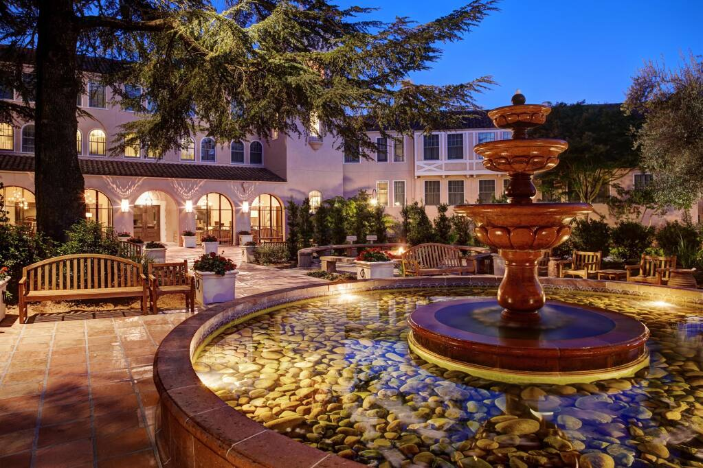 Front exterior view of the Fairmont Sonoma Mission Inn & Spa in Sonoma. The hotel is in need of workers as business returns. (Photo courtesy Fairmont Sonoma Mission Inn & Spa)