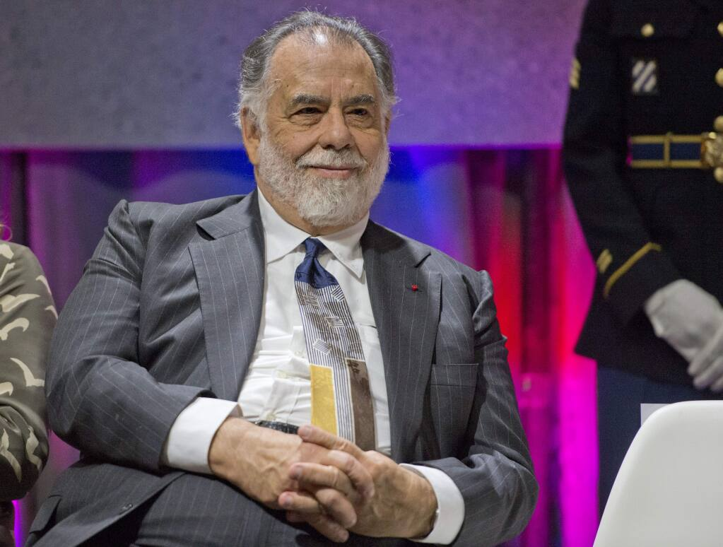 Movie director Francis Ford Coppola is introduced during the 8th Annual California Hall of Fame on Wednesday, Oct. 1, 2014 in Sacramento. (AP Photo/The Sacramento Bee, Hector Amezcua)