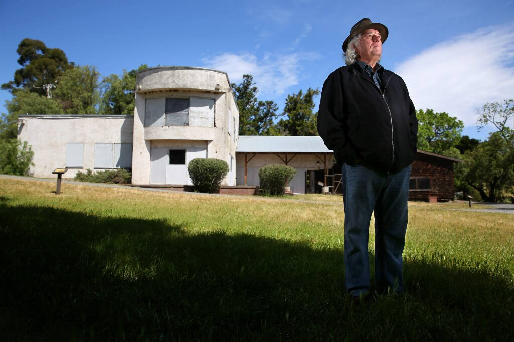 Senior State Archaeologist Breck Parkman sifted through the remains of the Burdell Mansion, at Olompali State Historic Park, to recover items belonging to Grateful Dead members, and 'The Chosen Family' commune, after fire claimed the structure in 1969. (Christopher Chung/ The Press Democrat)