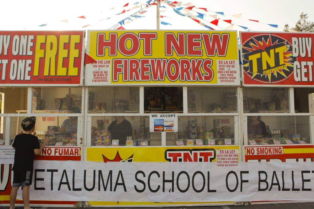 City Council of Petaluma is considering banning the sale of all fireworks. (CRISSY PASCUAL/ARGUS-COURIER STAFF)