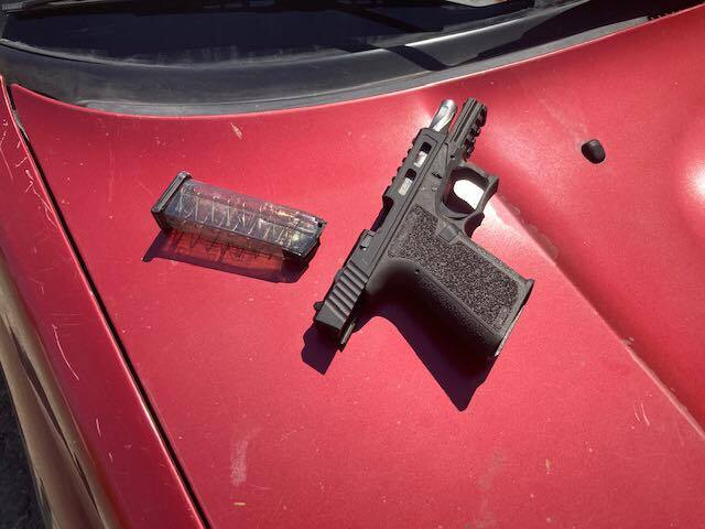 Sonoma County sheriff's deputies recovered this unloaded gun after a suspect tried to open fire on authorities at Maxwell Farms Regional Park Thursday, June 17, 2021. The suspect was arrested after a chase.