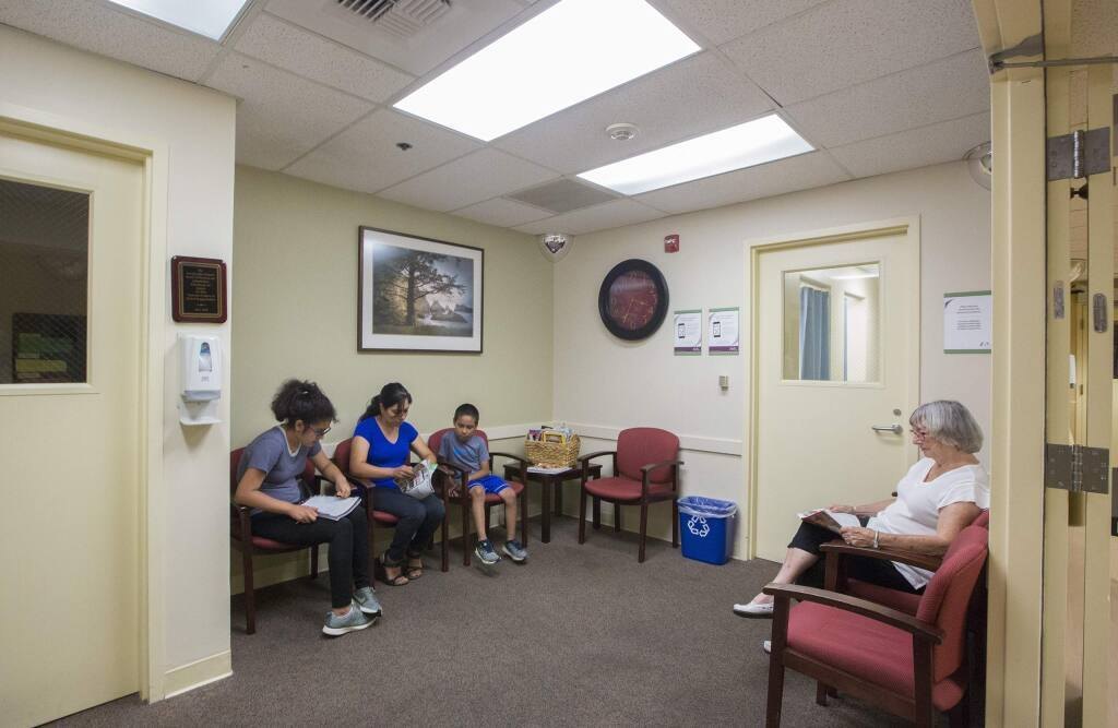 The waiting room at Sonoma Valley Hospital, above, in 2019. The hospital celebrates its diamond anniversary this year - 75 years.