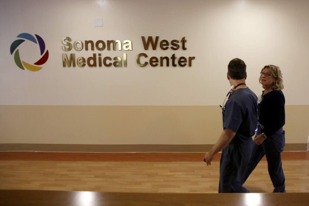 Sonoma West Medical Center (BETH SCHLANKER/ PD FILE, 2015)