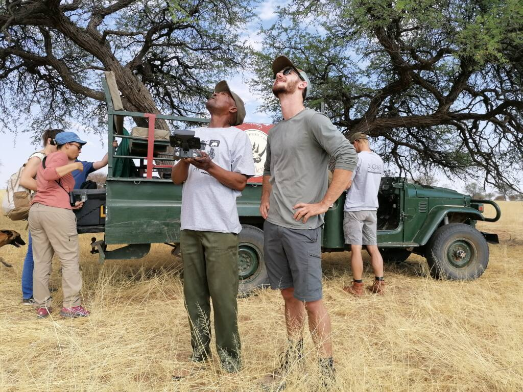 Petaluma native Jeremy Crowley spent a week in Namibia recently, helping conservationists use drone technology to track and monitor the endangered black rhino (Photo by Jeremy Crowley).