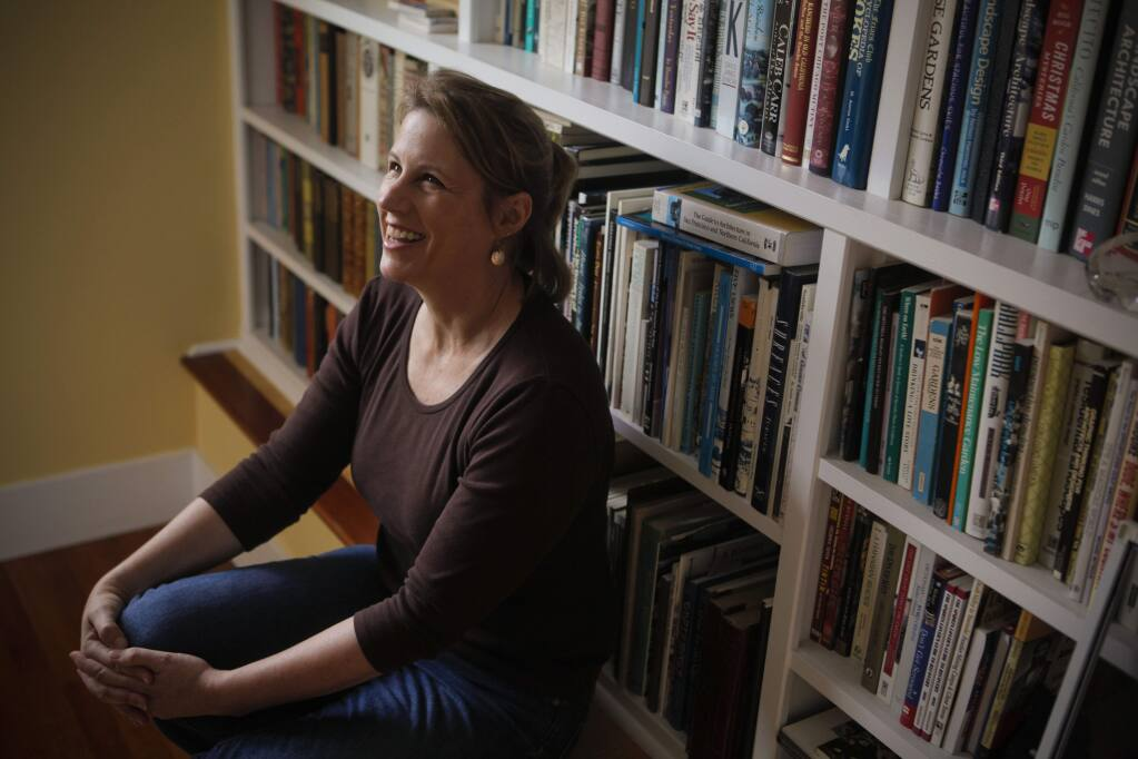 Petaluma, CA, USA. Monday, October 24, 2016._ Katherine Rinehart, in her Petaluma home office, is a local historian and the manger of the Sonoma County Library History and Genealogy Library.(CRISSY PASCUAL/ARGUS-COURIER STAFF)