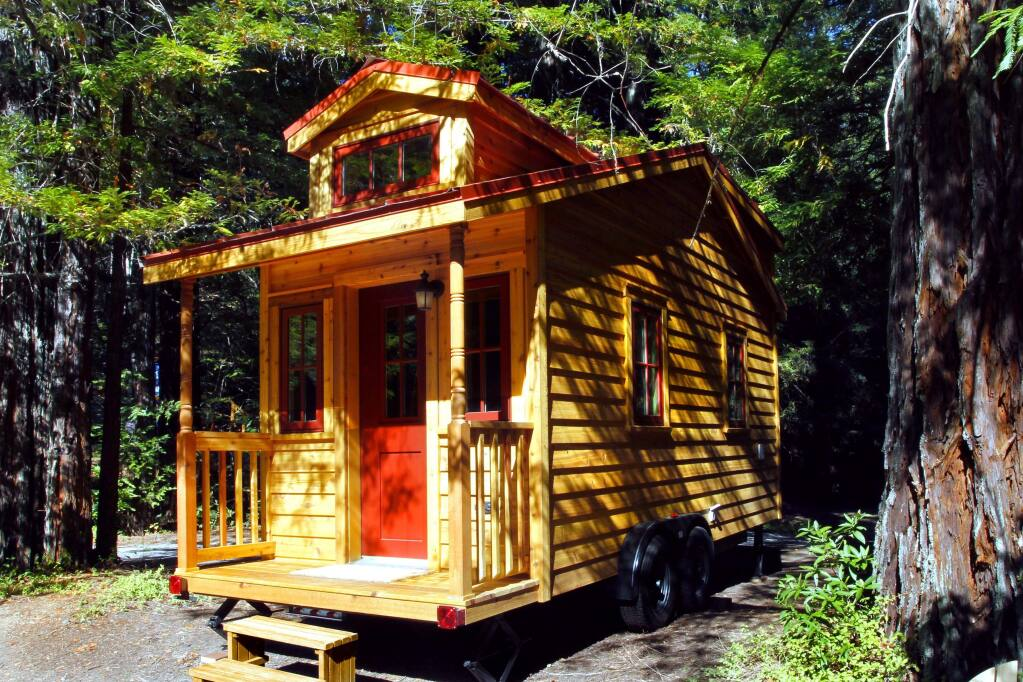 An example of the type of tiny house to be auctioned by the Council on Aging. (Courtesy photo)