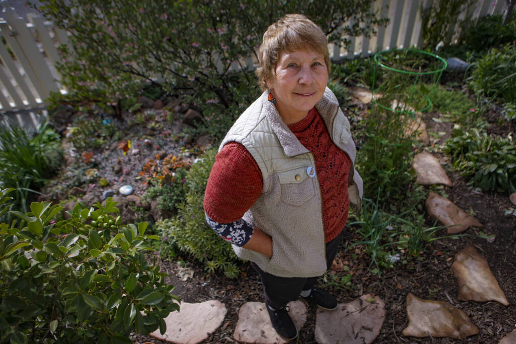 Petaluma, CA. USA. February, 16, 2021._Suzanne Clarke maintains a garden full of mostly local plants loved by butterflies, bees and birds at her west Petaluma home. She is a master gardener and founder of the Sonoma County Butterfly Alliance. (CRISSY PASCUAL/ARGUS-COURIER STAFF)