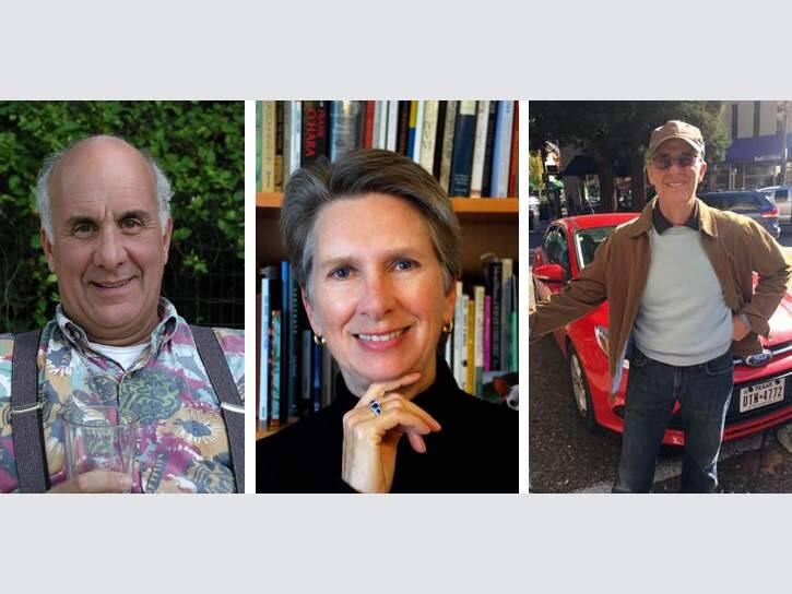Ed Coletti, Katherine Hastings and David Beckman (L-R) are launching Coletti's new poetry collection, 'The Trouble With Breathing,' at SoCo Coffee on May 23.