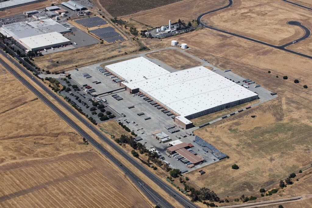 The vacant land seen in the lower right corner of this aerial photo of North Bay Logistics Center in Vacaville has a planned 617,000-square-foot warehouse. (Brian Haux / Skyhawk Photography) Jan. 8, 2015