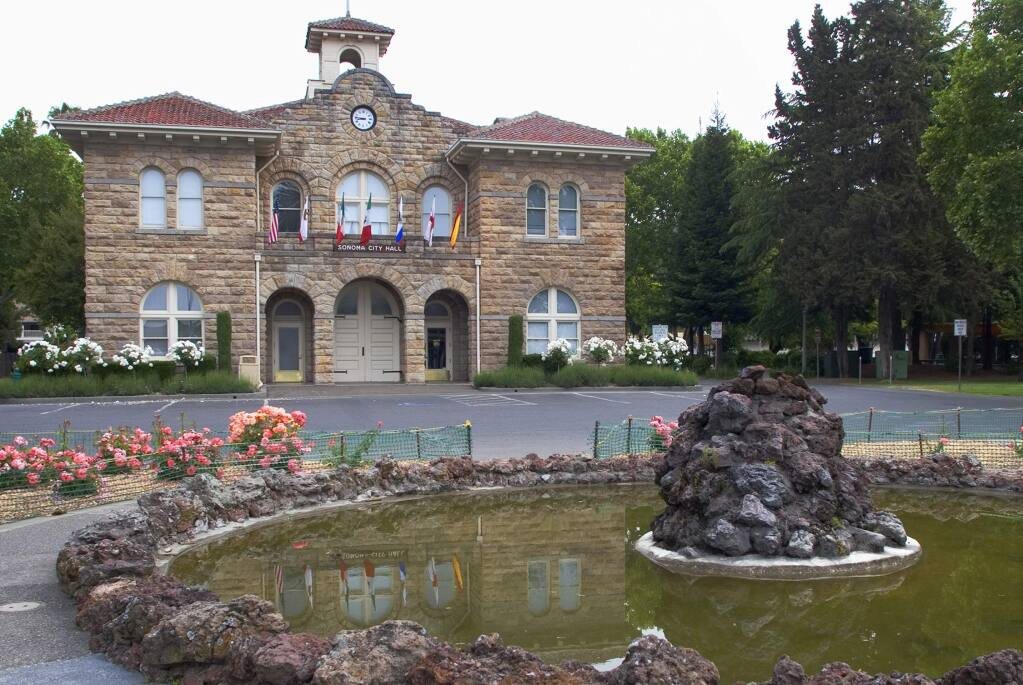 Sonoma City Hall will become like a second home to new city commissioners. (Index-Tribune file photo)