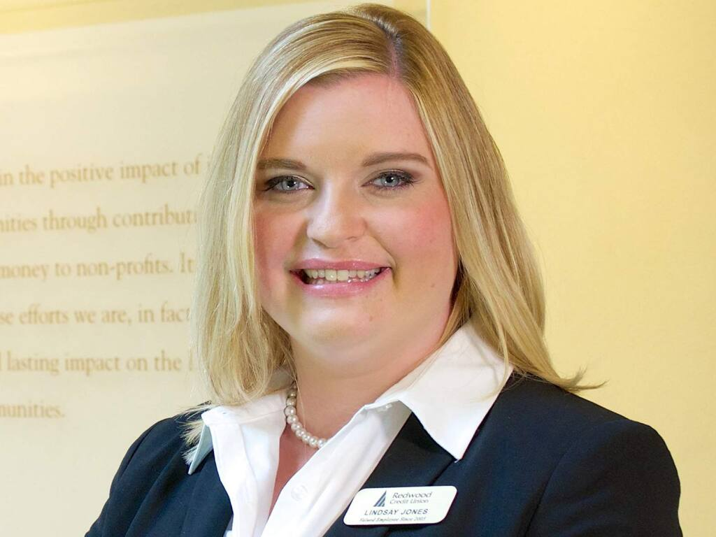 Lindsay Jones, regional vice president of branch experience and business development for Redwood Credit Union, is a 2020 Business Journal Women in Business Award winner.