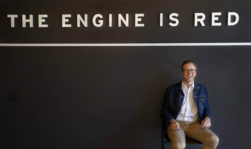 The Engine is Red president Chris Denny founded the marketing and advertising firm 10 years ago in downtown Santa Rosa. (photo by John Burgess/The Press Democrat)