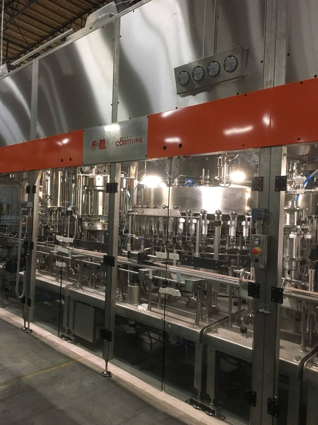 Infinity Bottling opens its new facility in Napa Valley's American Canyon in July 2018. (DAVID DAVENPORT)