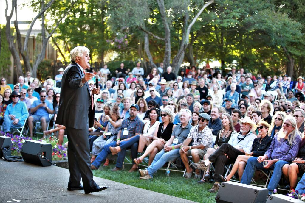 Jay Leno performs the final show of the season at Rodney Strong Vineyards' Summer Concert Series on Sunday, Sept. 8, 2019 in Healdsburg. (WILL BUCQUOY/FOR THE PD)