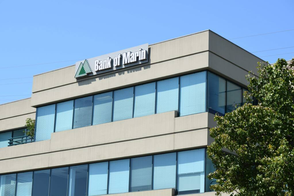 Bank of Marin is based in Novato. (courtesy of Bank of Marin)