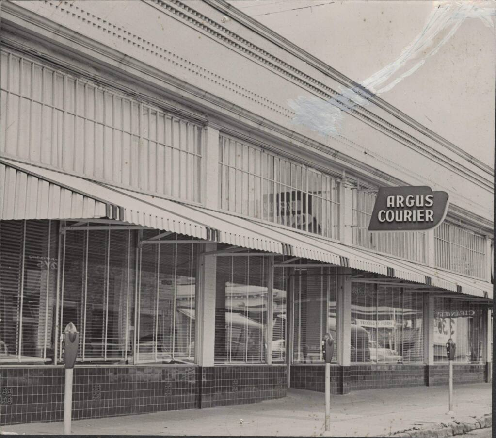 The Petaluma Argus-Courier has been publishing in some iteration since 1855. In 1928 the morning Courier and evening Argus were combined, giving the paper its current name. (SONOMA COUNTY LIBRARY)