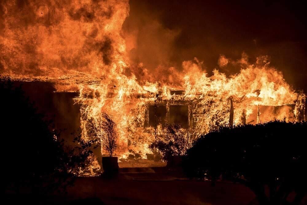 A house in Bennett Valley, Oct. 9, 2017. (Alejandro Sanchez Rubalcava)