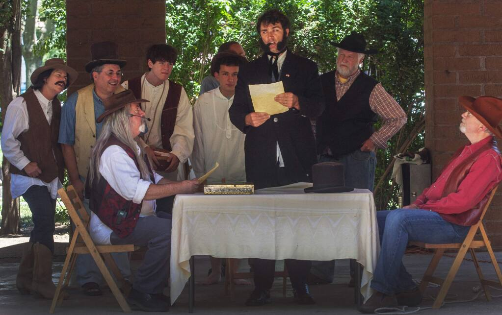 The Bear Flag Revolt Reenactment is one of the oldest of its kind in California, having been performed almost every year since 1897. This year's reenactment will be June 10, at Grinstead Amphitheatre, with a rehearsal June 4. (Robby Pengelly/Index-Tribune)