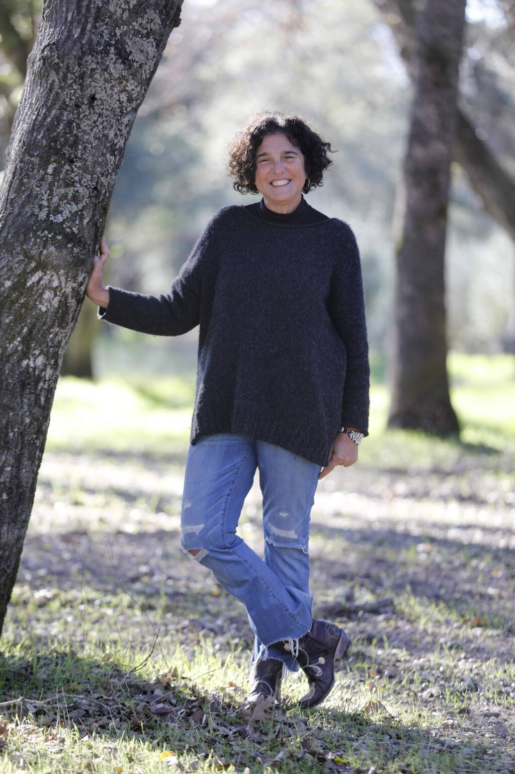 Natalie Compagni Portis at her property on Castle Rd on Monday, December 31, 2018 in Sonoma, California . (BETH SCHLANKER/The Press Democrat)