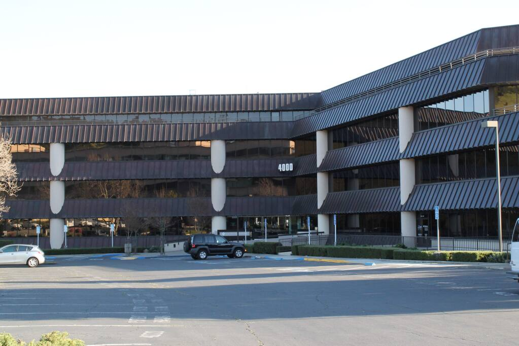 The new MarinHealth urgent care clinic is set to open in this office building at 4000 Civic Center Drive in north San Rafael. (Newmark photo)