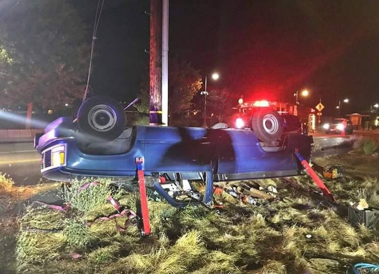 Daniel Hernandez, 25, of Petaluma, was arrested Saturday night on suspicion of driving under the influence of alcohol after he flipped his pickup truck in west Petaluma. (Courtesy of the Petaluma Police Department)