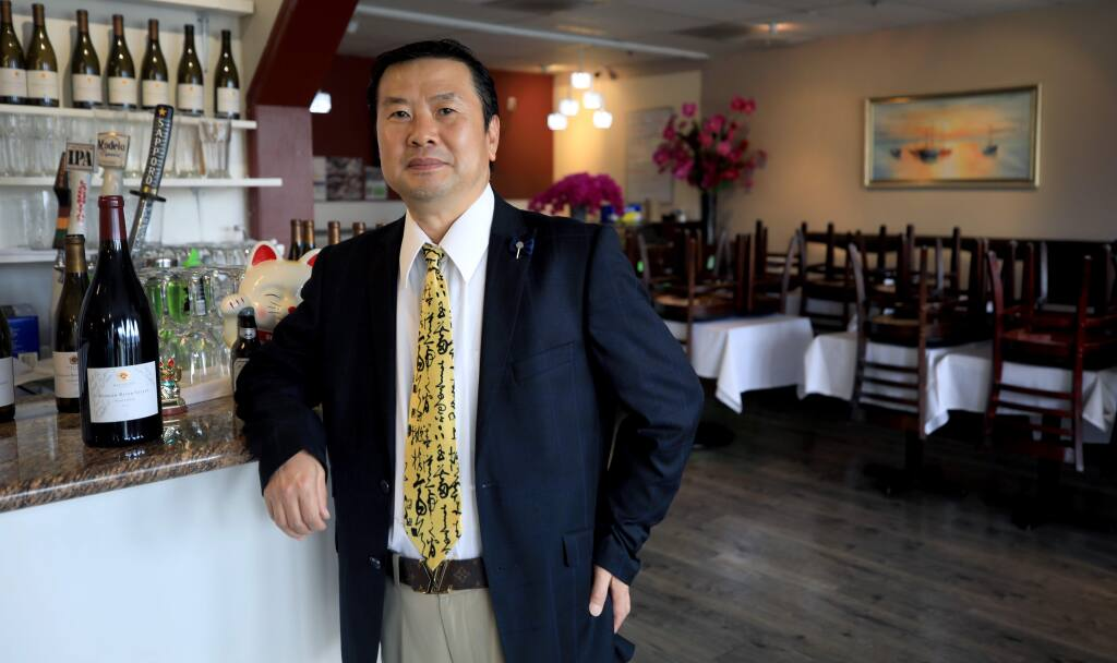 David Toyo, the owner of Toyo Restaurant in Santa Rosa, Saturday, April 11, 2020. (Kent Porter / The Press Democrat) 2020