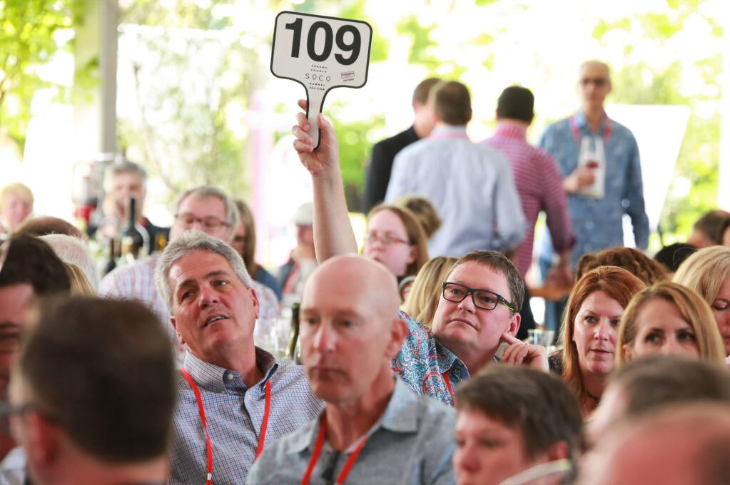 Sonoma County Barrel Auction at Vintners Inn in Santa Rosa on Friday April 21, 2017 (Photo Will Bucquoy)